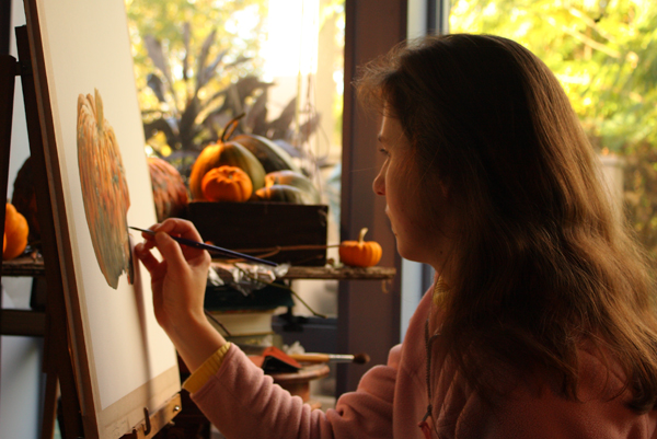 Talitha Rosanne Brauchli painting in watercolour