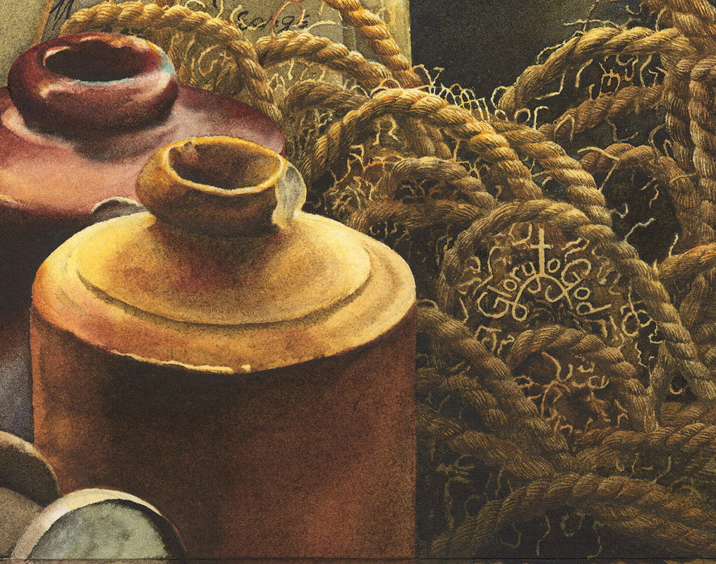 close up of a watercolour painting